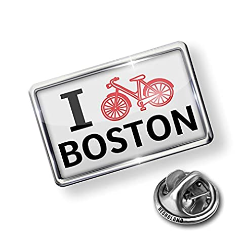 Pin I Love Cycling City Boston - NEONBLOND - Bike Brooch Pin