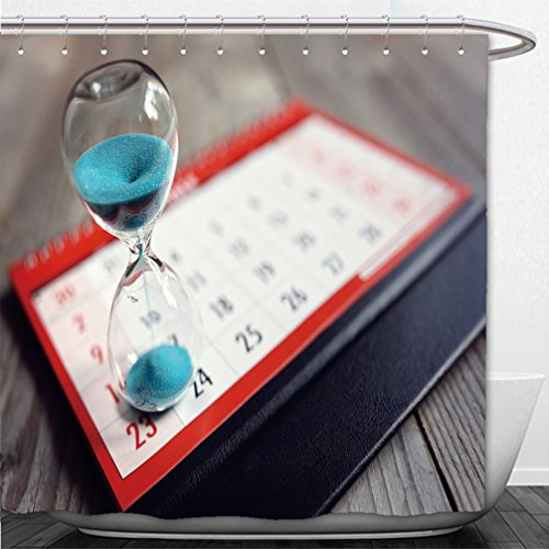 Interestlee Shower Curtain hour glass on calendar concept for time slipping away for important appointment date schedule and - Dc Macy's Hours