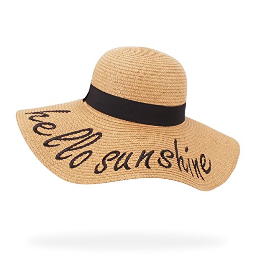 Accessory Bikini (belababy Hello Sunshine Beach Hat UPF 50+ Womens Summer Travel Bikini Accessory)