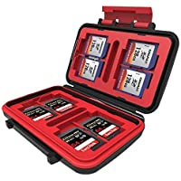 World of Needs 24 Slots Memory Card Case for CF/MicroSD/SD Cards (Red)