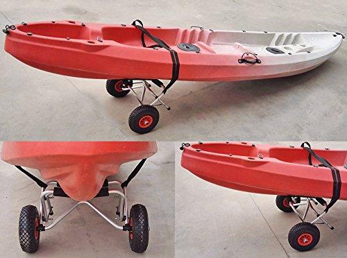 Docooler Loading Capacity Foldable Kayak Trolley Energy-saving Two-wheeled Carrier Cart for Kayak Canoe Boat (75KG) by Docooler (Image #1)