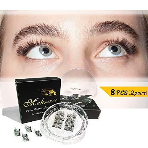 Maksuzee Half-Eye Magnet Eyelashes Dual Magnetic False Eyelashes