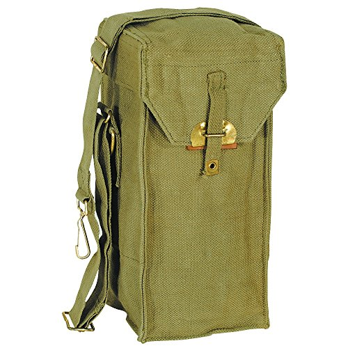 Price comparison product image Ultimate Arms Gear Surplus Belgian Military Engineering Engineers Canvas OD OLIVE Drab Green Pouch Carrier Holder Bag with Shoulder Strap