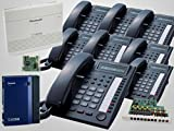 8 Panasonic KX-T7730 Black Phones + KX-TA824 System + Voice Mail/Caller ID