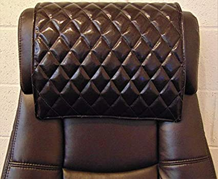 Protector with Suede Backing RV Cover Camel Chair Caps Theater Seat Recliner Head Cover luvfabrics 14 x 30 inch Quilted Diamond Stitched Head Rest Sofa Headrest Pad Loveseat Chaise