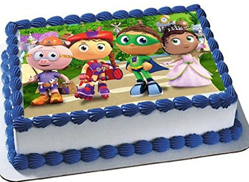 Super Why emblem Cake Edible 1/4 Sheet Image Topper Birthday Party Favor Movie