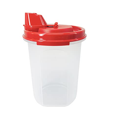 Tupperware 440 ml Mini magia flujo dispensador de aceite de oliva, color rojo y blanco
