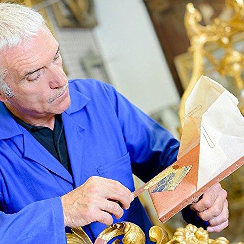 Koogel Gilding Foil Imitation Gold,300 Pcs Imitation Gold Leaf Silver and Copper Leaf for Arts, Crafting, Decoration