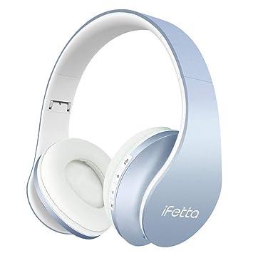 Auriculares de diadema Ifecco con Bluetooth 4.1, inalámbricos, con ...