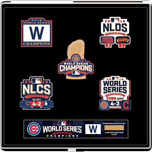 - Chicago Cubs 2016 World Series Champions Commemorative Pin Set - Limited to 5,000 (Less than 500 left)