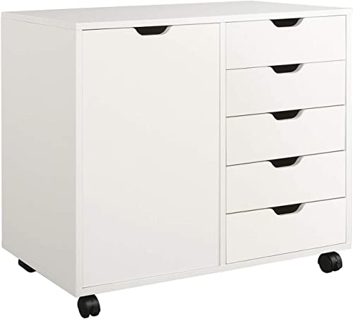 DEVAISE 5-Drawer Wood Dresser Chest