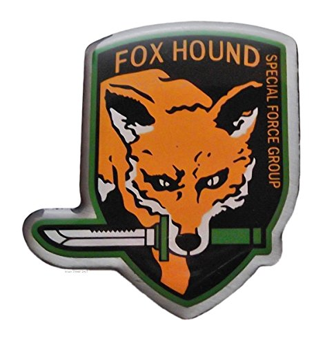Metal Gear Video Game FOX HOUND Special Force Group Enamel 1 1/2