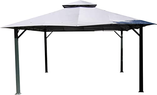 Garden Winds 14 x 14 Square Replacement Canopy Top Cover – RipLock 350