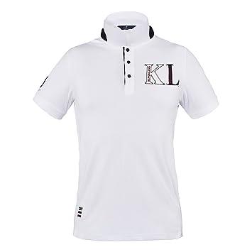 King País – Polo para hombre Turlock Cuello Blanco logotipo grande ...