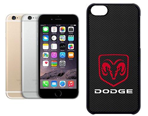 Cas de l'iPhone 6. Plastique noir avec High Gloss Imprime Inserer - Dodge Carbon