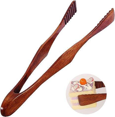 Ziyero Clip Comida de Madera Natural Pinzas Multiusos de Cocina de Madera Herramientas Pinza de Tostadas Duradero, Ecológico, Adecuado para Cocina, ...