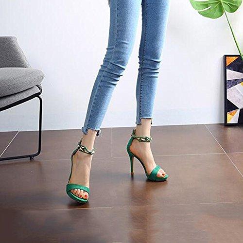 Da Tacchi tacco Scarpe Nero DALL In dimensioni Alto 36 4 col Donna 9 Colore Decorazione Cm Fashion UK Pantofole 36 Verde Sandali Scrub Alti Metallo EU CN Sottili Tacchi Scarpe 0EqPq