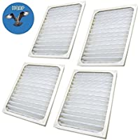 HQRP 4-pack Air Cleaner Filter for Hunter HEPAtech 30060, 30061, 30126, 30128, 30135 Air Purifiers + HQRP Coaster