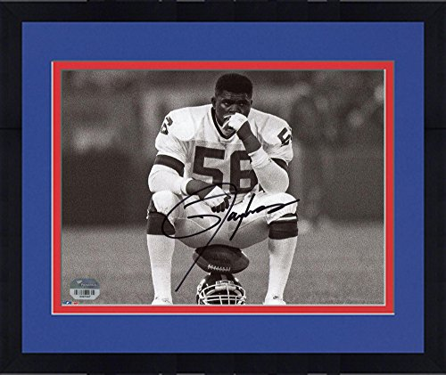 Framed Lawrence Taylor New York Giants Autographed 8