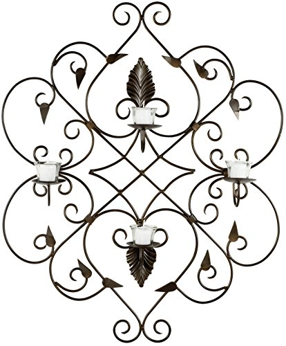 Safavieh Wall Art Collection Ivy Leaves Candle Holder Wall Sconce - Leaf Wall Sconce Candle Holders