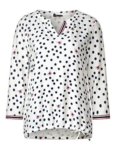 Manches shirt White 30108 Femme T Mehrfarbigoff One Longues Street LUzGSVqMp