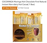 COCORINGA Moringa Cacao Hot Chocolate First Natural Instant Non-dairy Hot Cocoa(1 Box)