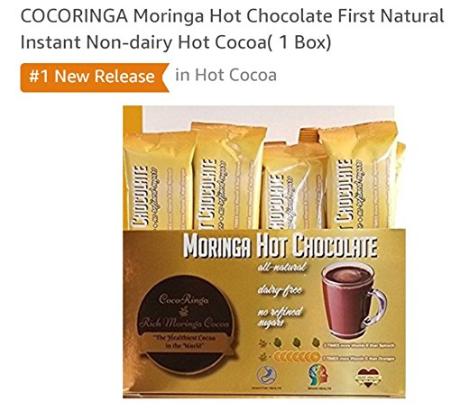 - COCORINGA Moringa Cacao Hot Chocolate First Natural Instant Non-dairy Hot Cocoa(1 Box)