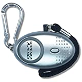 Silver Mini Loud Personal Staff Panic Rape Attack Safety Security keyring Alarm with Torch 140DB