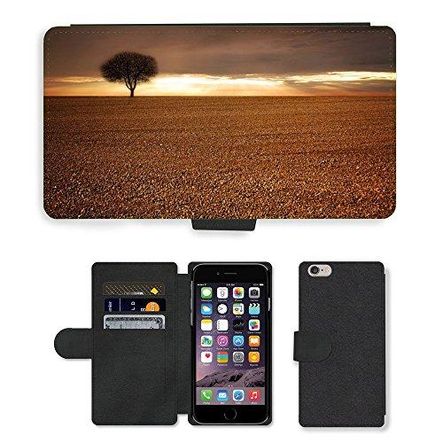 "PU Leather Cover Custodia per // M00421718 Paysage Champ arables Sky Tree // Apple iPhone 6 PLUS 5.5"""