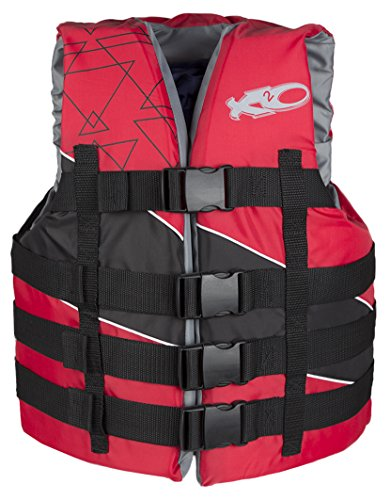 Red 4 Buckle Vest - 2