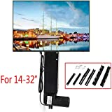 BSTOOL TV Stand Lift, LCD Motorized Flat TV Lift 14''-32'' Screen Mount Remote Control 20'' Stroke USA