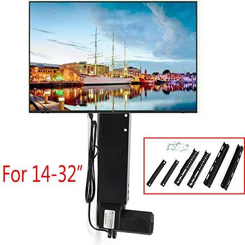 BSTOOL TV Stand Lift, LCD Motorized Flat TV Lift 14''-32'' Screen Mount Remote Control 20'' Stroke USA (Lcd Lift)