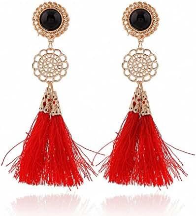 megko Vintage Bohemia Long Tassel Drop Earrings Earings for Women