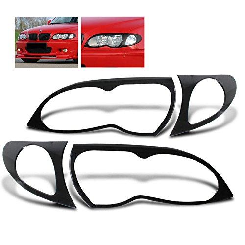 - Remix Custom Eyelid For 02-05 BMW 3 Series E46 4DR Sedan 320i 325i 330i 330xi Headlight Cover