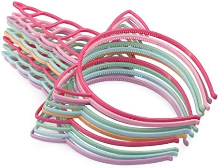Toddlers Hairbands Children Party for HASAGEI 12 Pack Plastic Unicorn Headband