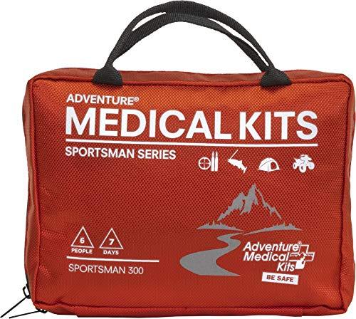 Adventure Medical Kits Sportsman Series Grizzly First Aid Kit, QuikClot Stops Bleeding Fast, Treat Bullet Wounds, Detachable Hunting Field Trauma Kit, Petrolatum Gauze, High Visibility Orange, 2lb 2oz