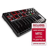 Akai Professional MPK Mini MKII LE Black | Black, Limited Edition 25 Key Portable USB MIDI Keyboard...