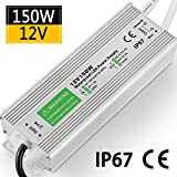 LED Driver 150W 12.5A Waterproof IP67 Power Supply 12V DC Transformer thinner