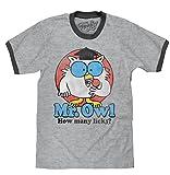 Tee Luv Mr. Owl How Many Licks? T-Shirt - Mr. Owl Ringer Shirt (X-Large)