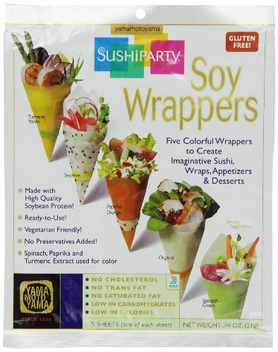 Yama Moto Yama Sushi Party Soy Wrappers, 5 count Packages, 0.74 Ounce, (Pack of 24)