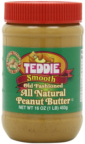 Teddie All Natural Peanut Butter, Smooth, 16-Ounce Jar (Pack of 4) by Teddie