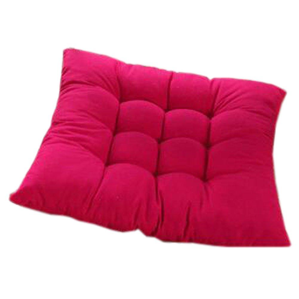 インドア/アウトドアソフトホーム/オフィスSquaredシート通気性椅子クッションwithストラップ, Carmine B072J2H6JG