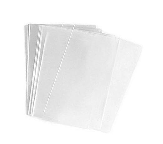 100 bolsas transparentes planas de celofán/celofán de 15 x 20 cm (1,2 millas) para cesta de regalo, buena para aperitivos, panadería, galletas y ...