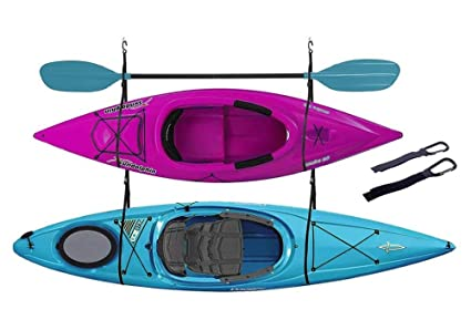 Fietsen En Wielersport Freestanding Triple Storage Rack 3 Kayak Canoe Stand Organizer Accessory Outdoor Neva Com Tr