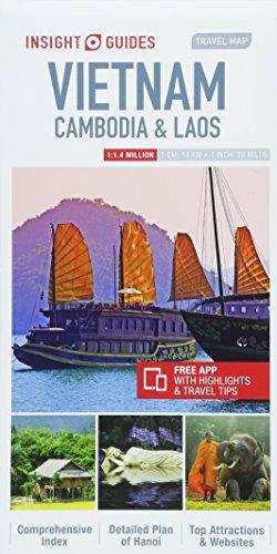 Insight Guides Travel Map Vietnam, Cambodia & Laos (Insight Travel Maps)...