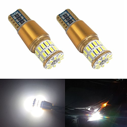 Pack of 2 BlyilyB Strobe RGB T10 W5W 5050 LED Bulb With Remote For Reading Lamp Sidemaker Light Tail Light