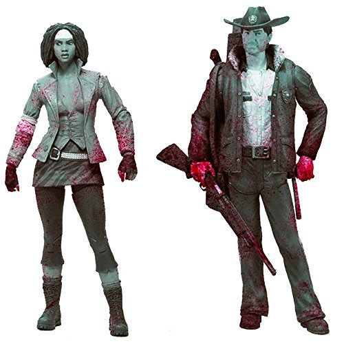 (McFarlane Toys The Walking Dead: Series 1: Rick and Michonne (Black and White Versions) Action Figure 2-Pack)