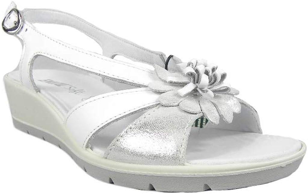 Enval Soft E300106 Sandales confortables pour femme Blanc Blanc