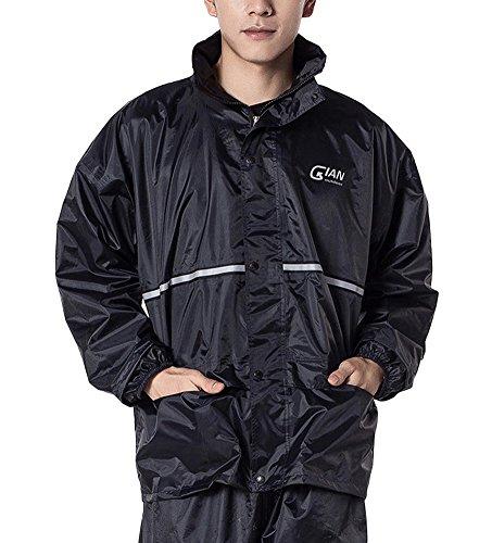 Liveinu Simplex PVC Rainsuit For Outdoor Activity Dark Blue 3XL
