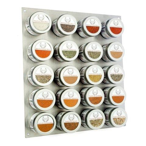 Gustus Vitae Ultimate Gourmet Salt & Artisan Spice Blend Collection - 20 Magnetic Tins by Gustus Vitae